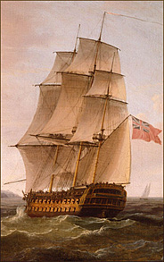 19th Century Man O' War Ship