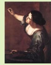 Artemisia Gentileschi, self-portrait