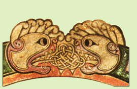 animal heads from the Book of Kells
