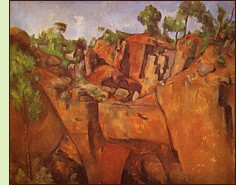 The Quarry at Bibémus by Paul Cézanne