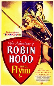 The Adventures of Robin Hood starring Errol Flynn movie poster