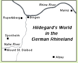Bingen Germany Map.Hildegard Of Bingen