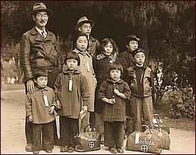 Japanese-Americans waiting to go to an internment camp. Photograph by Dorothea Lange