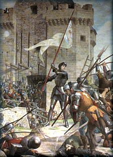 Joan of Arc at Orleans by Jules Eugene Lenepveu