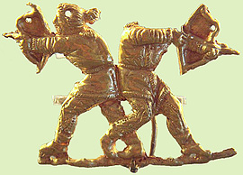 Scythian bowmen, gold artifact
