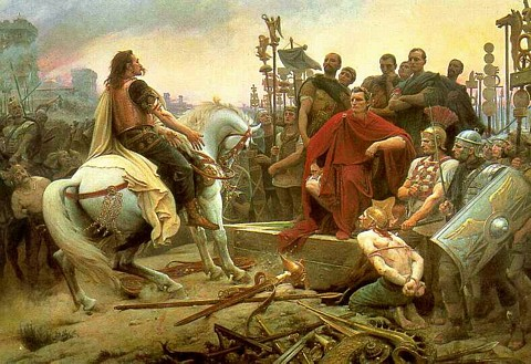 Vercingetorix Throws Down His Arms at the Feet of Julius Caesar by Lionel-Noel Royer