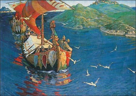 Guests from Overseas by Nicholas Roerich, 1901