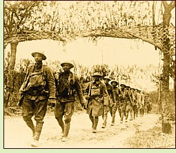 Black U.S. soldiers serving in World War I