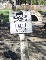 sign at Auschwitz