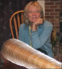 Author Dorothee Kocks with glass harmonica