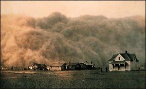 Dust Storm in 1935 Texas