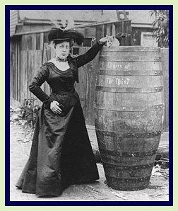 Annie Taylor and her barrel