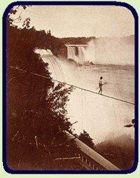 Tightrope walking at Niagara Falls