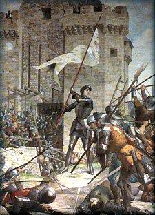 Joan of Arc at Orleans by Jules Eugene Lenepveu