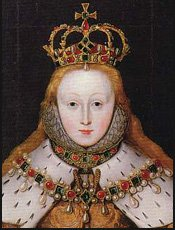 Queen Elizabeth's coronation portrait (detail)