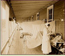 Spanish Flu ward at the Walter Reed hospital
